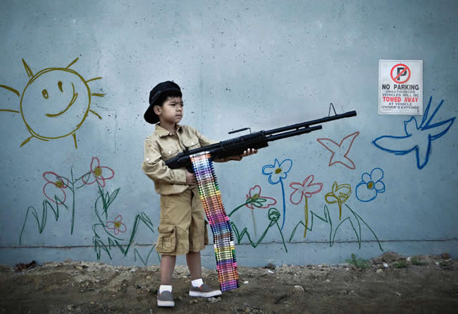 STERN BANKSY CHILD SOLDIER